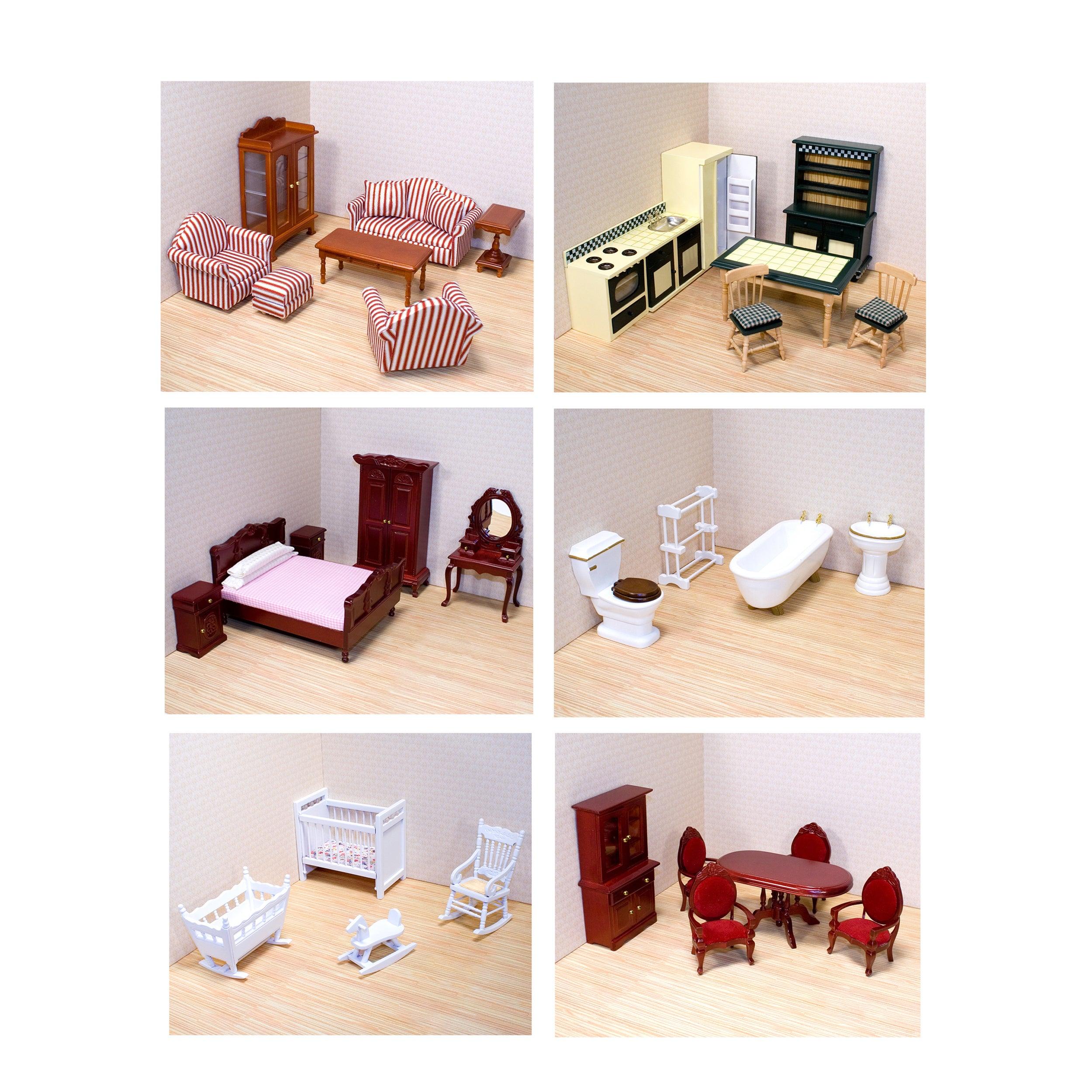Melissa Doug Victorian Dollhouse Furniture Bundle