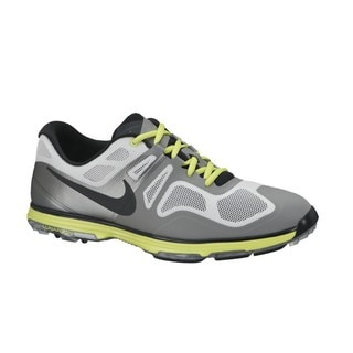 Nike Men's Lunar Ascend II Grey/ Black/ Venom Green Golf Shoes