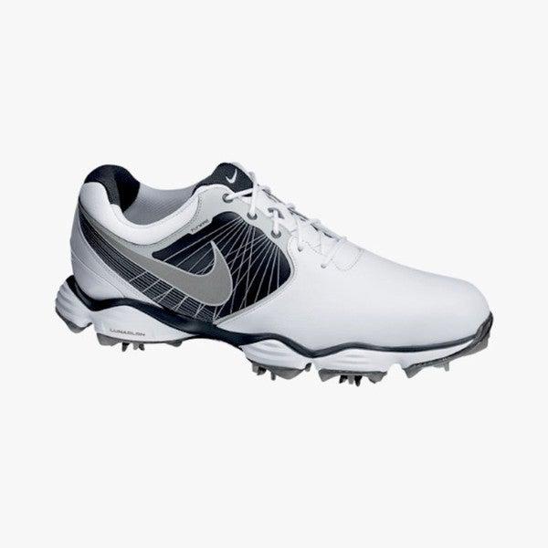 Nike Men's Lunar Control II White/ Black/ Silver Golf Shoes