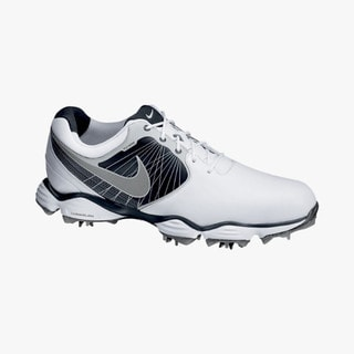 Nike Men's Lunar Control II White/ Black/ Silver Golf Shoes
