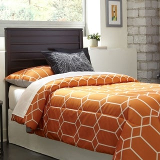 Uptown Twin Size Brown Wood Headboard