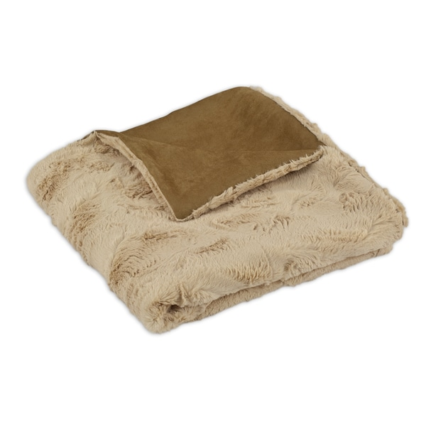 Luxe Camel 50x60-inch Throw Blanket