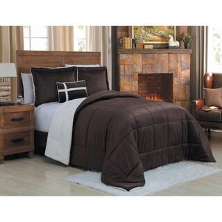 Laurel Creek Ainsley Micro Mink Reversible 4-piece Comforter