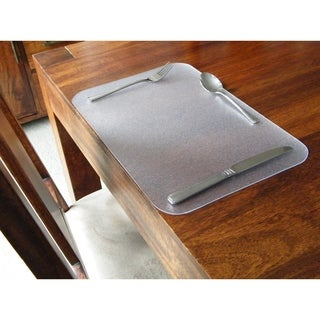 Floortex Pack of 4 - Desktex Anti-Slip Polycarbonate Place Mats Rectangular Shaped (1' x 1'6)