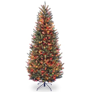 7.5-foot Natural Fraser Slim Fir Hinged Tree with 600 Multi Lights