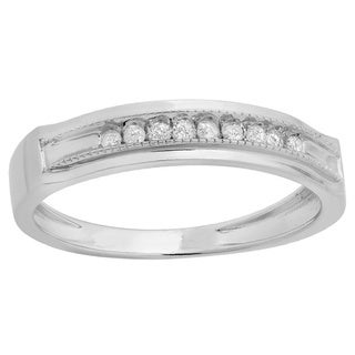 Sterling Silver Men's 1/6ct TDW Diamond Anniversary Band (I-J, I2-I3)