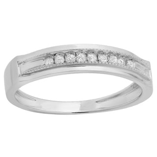 Elora Sterling Silver Men's 1/6ct TDW Diamond Anniversary Band (I-J, I2-I3)