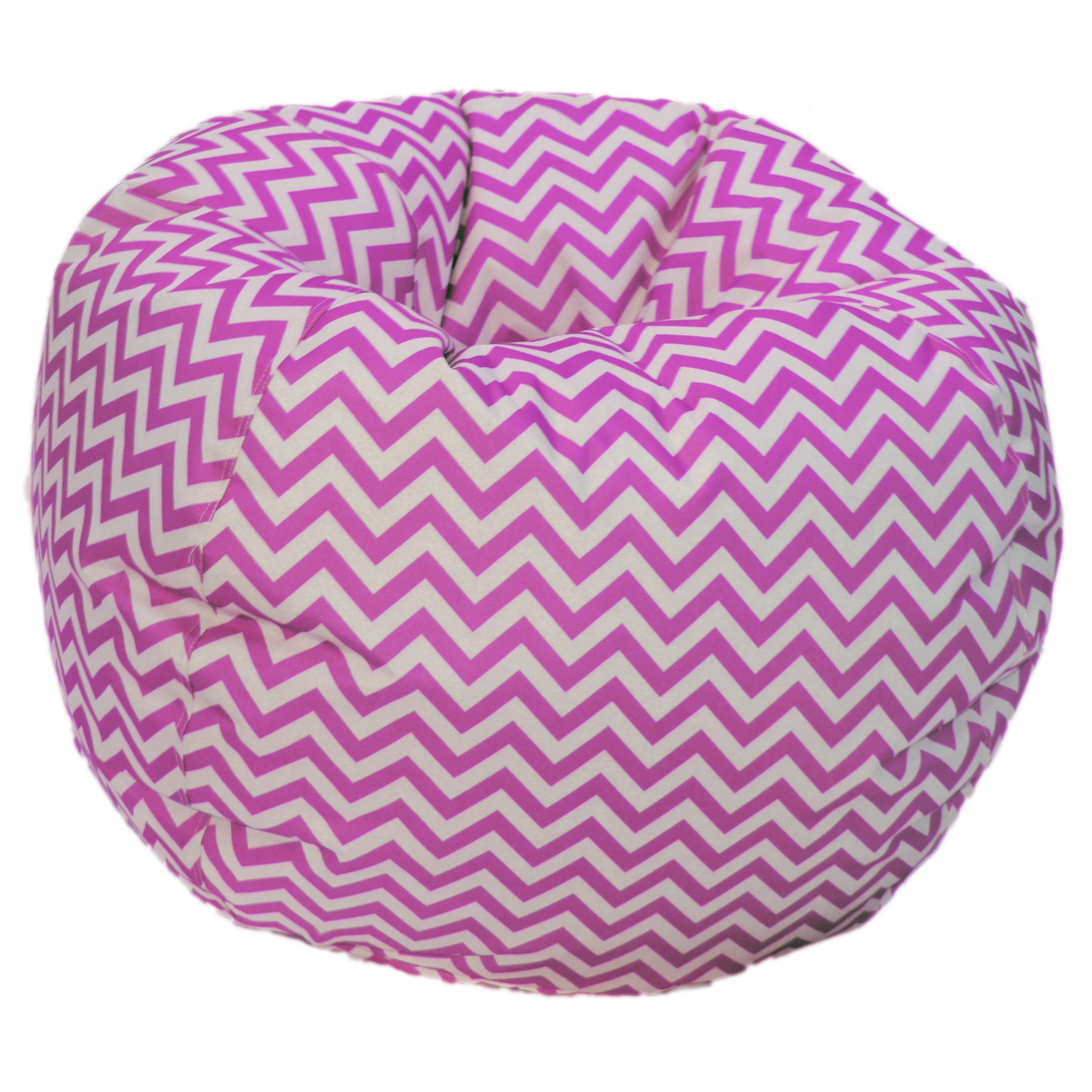 Beau Pink/ White Chevron Bean Bag Chair