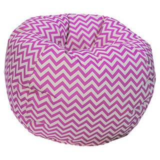 Pink/ White Chevron Bean Bag Chair