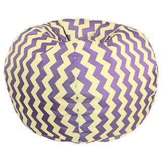 Purple/ Yellow Chevron Bean Bag Chair