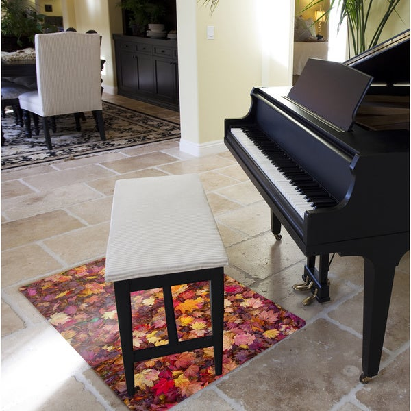 Floor Mat For Hardwood Floor For Computer Chair ... General Purpose Mat In Autumn Leaves Design for Hard Floors & Low