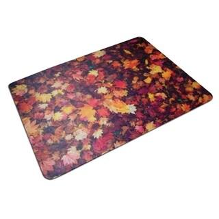 "Colortex Photomat Floor Mat with Reflective 'Autumn Leaves' Photo Design For Hard Floors Rectangular Size 36"" x 48"""