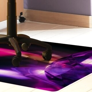 "Colortex Ultimat Photomat Floor Mat with 'Reflective Gem' Photo Design For Hard Floors Rectangular Size 36"" x 48"""