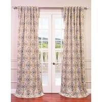 Exclusive Fabrics Soliel Yellow/ Grey Damask Blackout Curtain Panel Pair