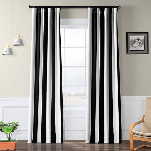 Exclusive Fabrics Black And White Vertical Striped
