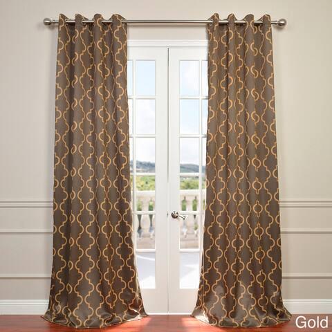 Exclusive Fabrics Seville Damask Blackout Curtain Panel Pair