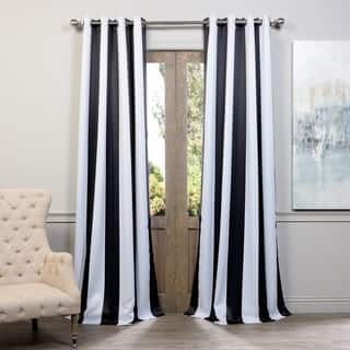 Stripe Curtains Drapes Shop The Best Deals For Nov - Black and gold stripe drapery fabric