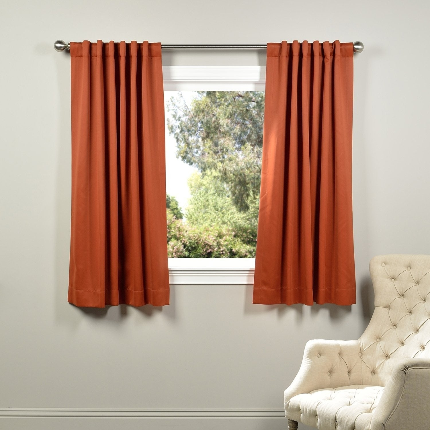 Exclusive Fabrics Thermal Blackout 63 Inch Curtain Panel Pair 50 X