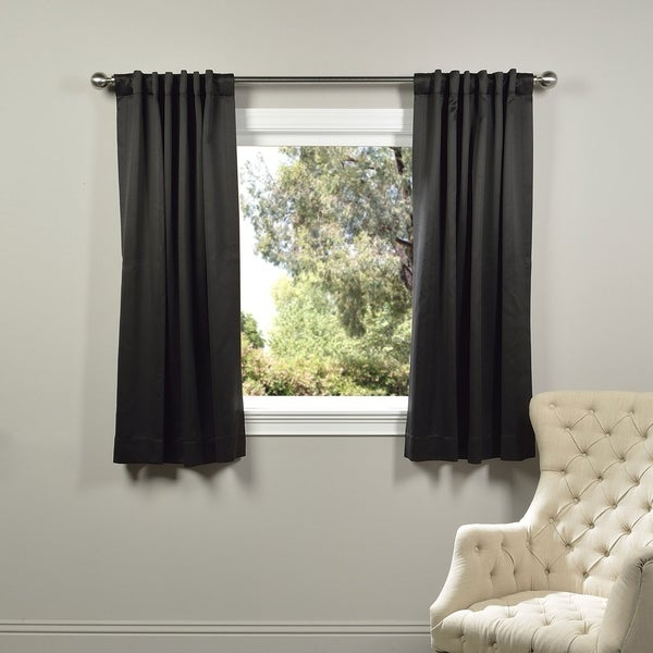 Exclusive Fabrics Thermal Blackout 63-inch Curtain Panel Pair - 50 x 63