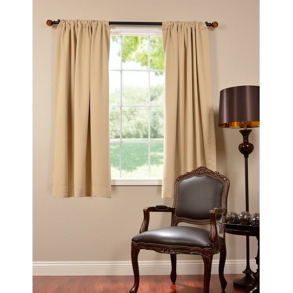 Exclusive Fabrics Thermal Blackout 63 Inch Curtain Panel