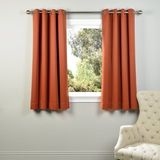 Exclusive Fabrics Thermal Blackout Grommet 63-inch Curtain Panel Pair - 50 x 63 (Blaze)