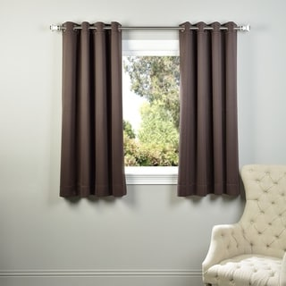 Exclusive Fabrics Thermal Blackout Grommet 63-inch Curtain Panel Pair - 50 x 63 (Java)