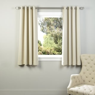 Exclusive Fabrics Thermal Blackout Grommet 63-inch Curtain Panel Pair - 50 x 63 (Eggnog)
