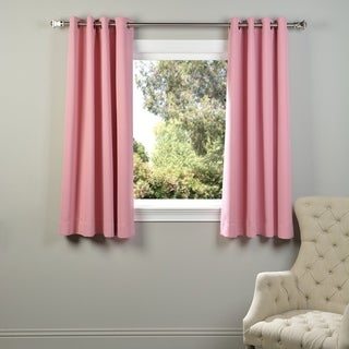Exclusive Fabrics Thermal Blackout Grommet 63-inch Curtain Panel Pair - 50 x 63 (precious pink)