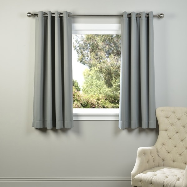 Exclusive Fabrics 63-inch Thermal Blackout Grommet Curtain Panel Pair