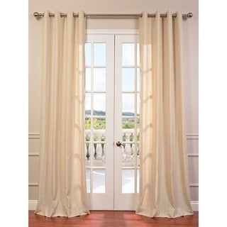 Exclusive Fabrics Hilo Natural Grommet Linen Blend Solid Curtain Panel