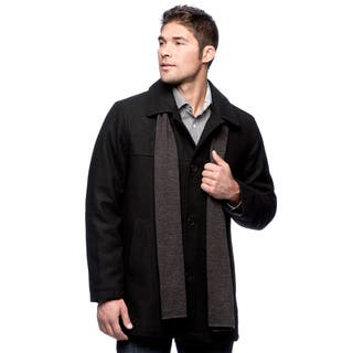 Izod Men's Wool Car Coat With Scarf|https://ak1.ostkcdn.com/images/products/9536322/P16714710.jpg?impolicy=medium