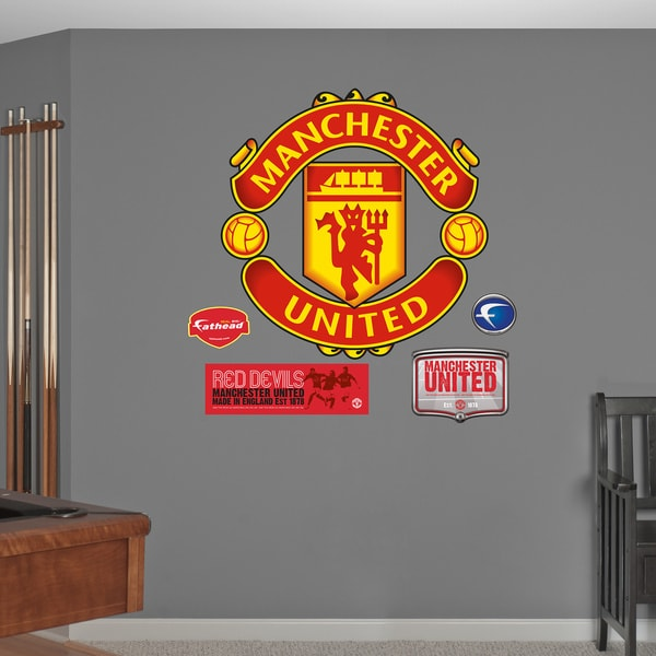 fathead manchester united logo wall decals free shipping