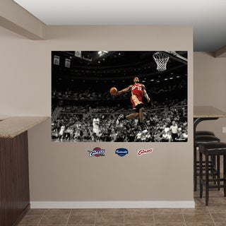 Fathead LeBron James Throwback - Slam Dunk Mural Wall Decals