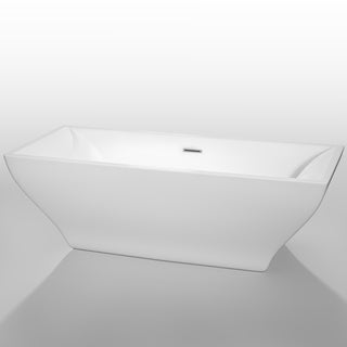 Wyndham Collection Maryam 71-inch White Acrylic Soaking Bathtub
