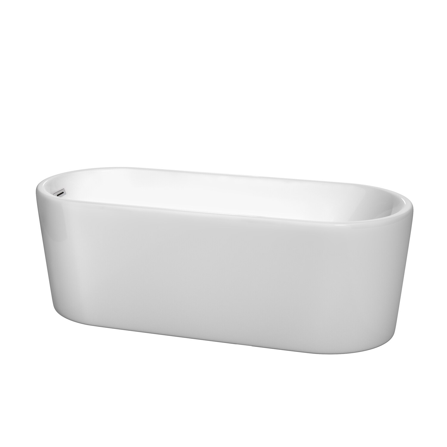 Wyndham Collection Ursula 67-inch White Acrylic Soaking B...