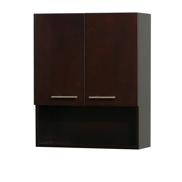 Wyndham collection centra 29 inch bathroom wall mounted for Bathroom 2 door wall cabinet