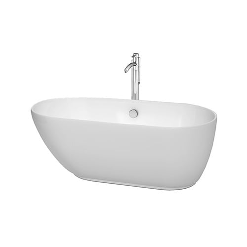 wyndham collection melissa 60 inch freestanding soaking bathtub in