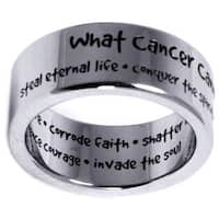 Inspirational 'What Cancer Cannot Do' Ring - White