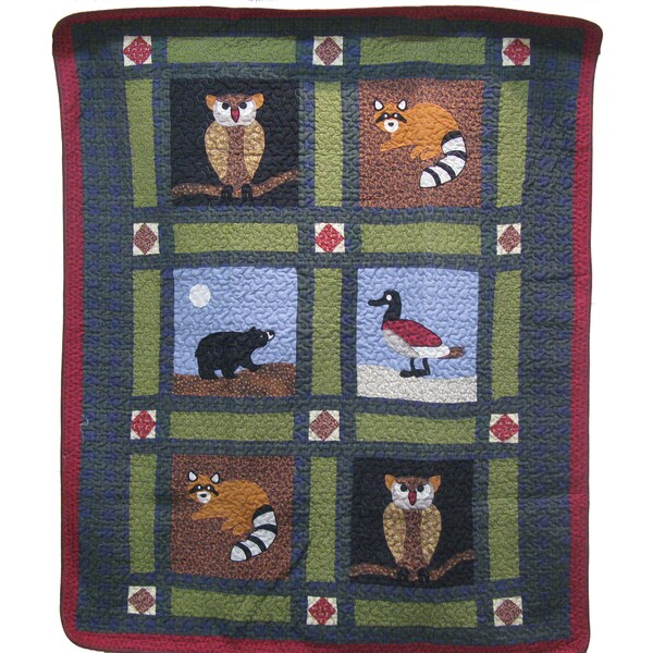 Outdoor Life Quilted Throw Blanket