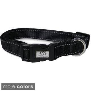 Laso 12-inch Reflective Stitching Nylon Dog Collar|https://ak1.ostkcdn.com/images/products/9536668/P16715583.jpg?impolicy=medium