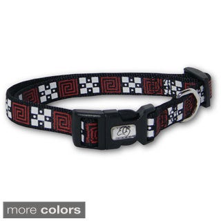 Laso 18-inch Geometric Nylon Dog Collar