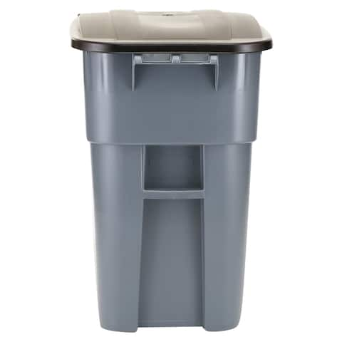 Rubbermaid Commercial Brute Rollout Container, 50gal, Gray