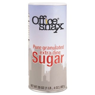 Office Snax 20-ounce Reclosable Sugar Canister (Pack of 4)