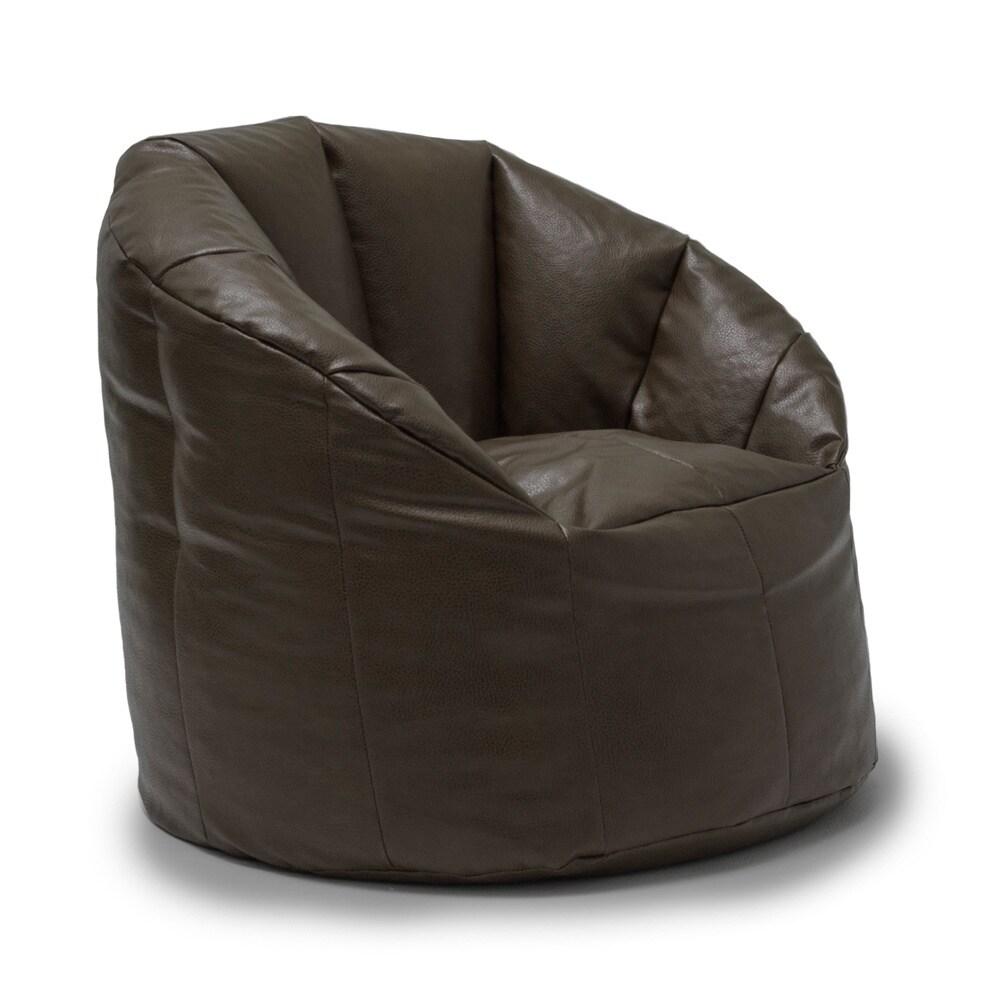 BeanSack Big Joe Milano Vegan Leather Bean Bag Chair (Bro...