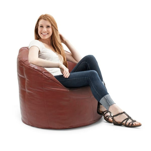 Sensational Shop Big Joe Lux Milano Vegan Leather Bean Bag Chair Ocoug Best Dining Table And Chair Ideas Images Ocougorg
