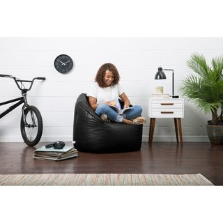 Big Joe Lux Milano Vegan Leather Bean Bag Chair, Multiple Colors