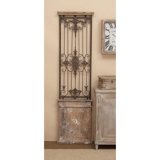 Metal and Wood Wall Gate - Brown