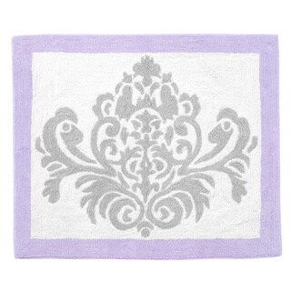 Sweet Jojo Designs Grey / Lavender Elizabeth Accent Floor Rug
