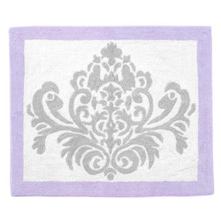 Sweet Jojo Designs Grey / Lavender Elizabeth Accent Floor Rug