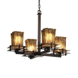 Justice Design Group Metropolis 4-light Dark Bronze Chandelier